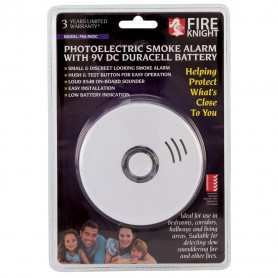 Photoelectric Smoke Alarm with 9VDC Duracell Battery