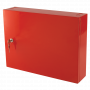 Small Metal Storage Cabinet - Red