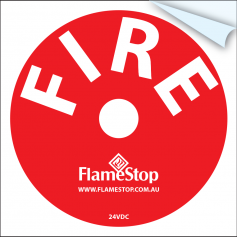 FlameStop Bell Sticker - Red