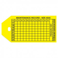 Maintenance Record Tag - Singles