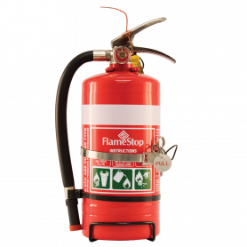 FlameStop 2.5kg Stainless Steel Heavy Duty ABE Powder Type Portable Fire Extinguisher