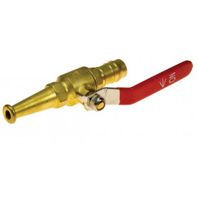 Hose Reel Nozzle - Brass - Lever - 13mm