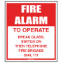 Fire Alarm to Operate (Plastic Signs)