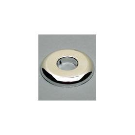 25mm WHITE PLASTIC WALL PLATE (FLR/CLG)