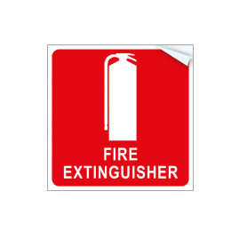 Fire Extinguisher Vehicle Vinyl Sticker