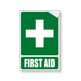 First Aid Vehicle Vinyl Sticker