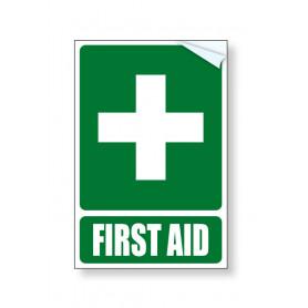 First Aid Vehicle Vinyl Sticker