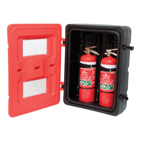 Plastic Twin Extinguisher Cabinet
