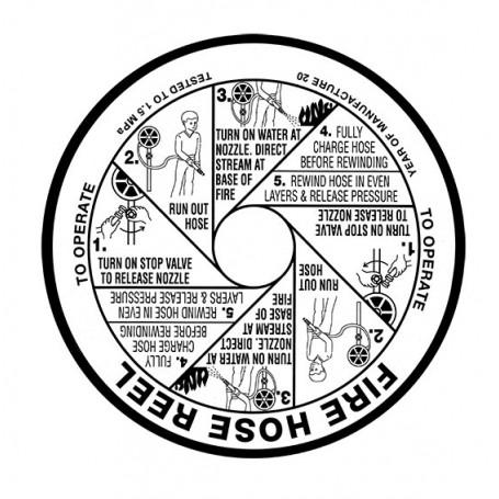 Hose Reel Replacement Label - SAV