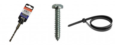 Anchors, Screws, Cable Ties & Drillbits