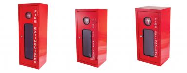 Galvanised Metal Extinguisher Cabinets